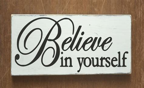 believe in yourself wood sign inspirational house signs