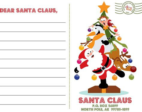 dear santa card template 50 creative printables collection page 3 of 5