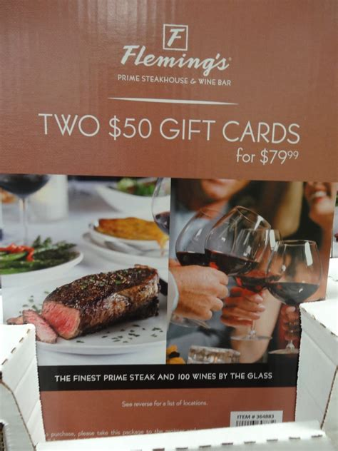 Costco Restaurant Gift Cards - fleming s steakhouse discount gift card