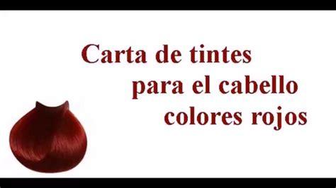 numeros de tintes para el cabello carta de tintes para el cabello variedad de colores rojos