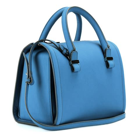 bowling bags lyst beckham seven leather bowling bag in blue
