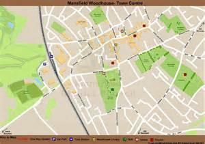 map mansfield mansfield mansfield woodhouse town centre map