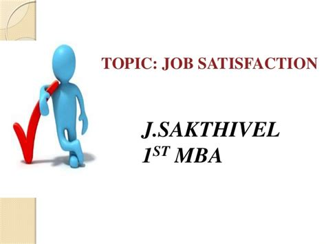 Mba Ppt On Satisfaction by Satisfaction