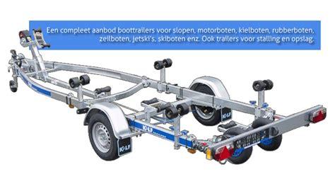 rubberboot op trailer boottrailer voor iedere boot een passende boottrailer