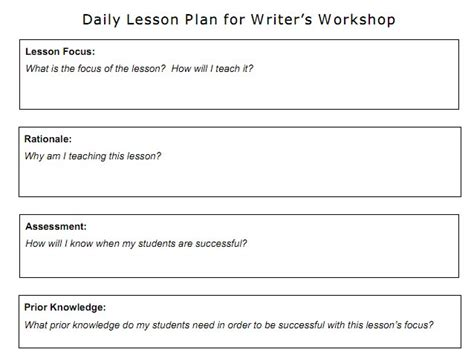 writing workshop lesson plan template optimus 5 search image writer s workshop lesson plan