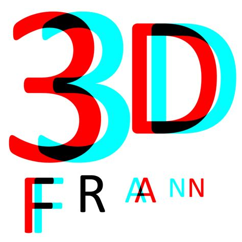 Logo estereoscópico | 3D Fran Y Logo 3d