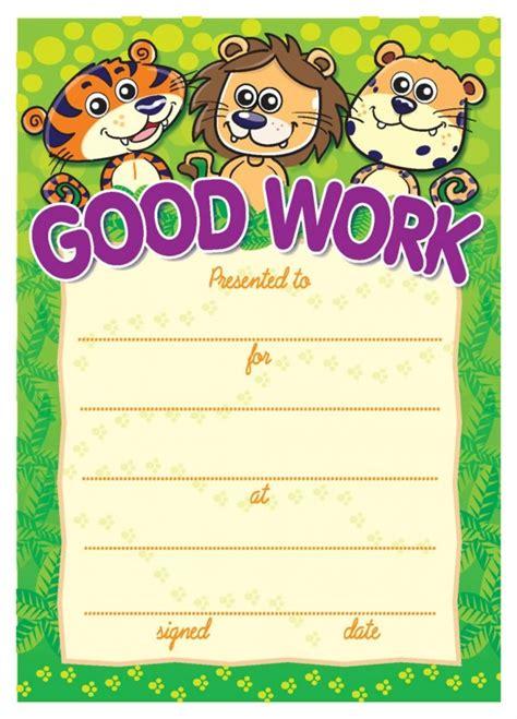 good work big cats certificate school merit stickers
