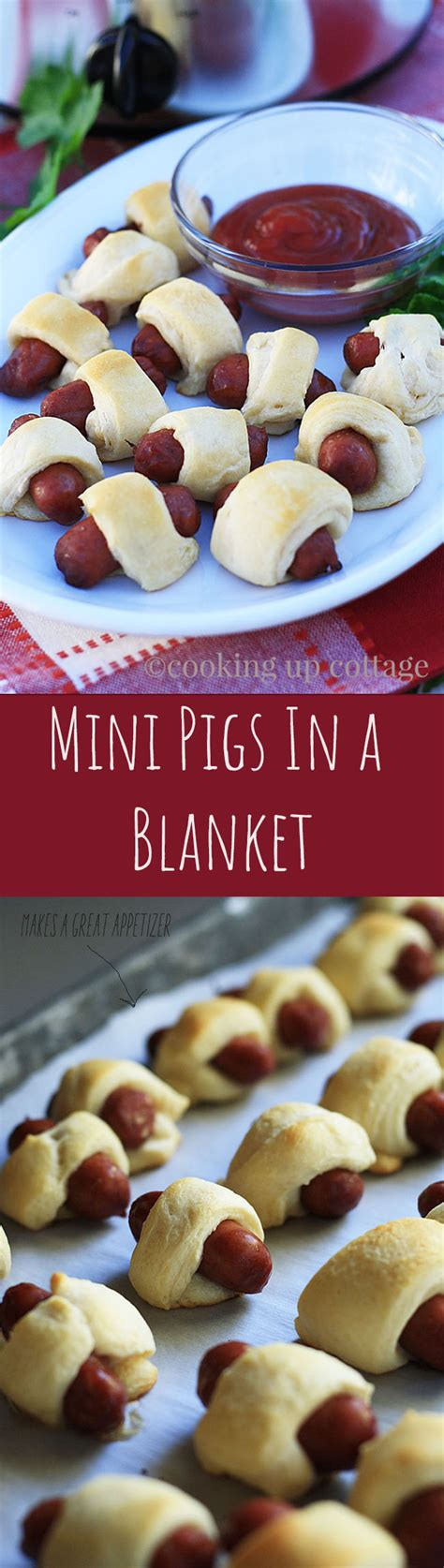 Two Pigs In A Blanket by Appetizers Cooking Up Cottage