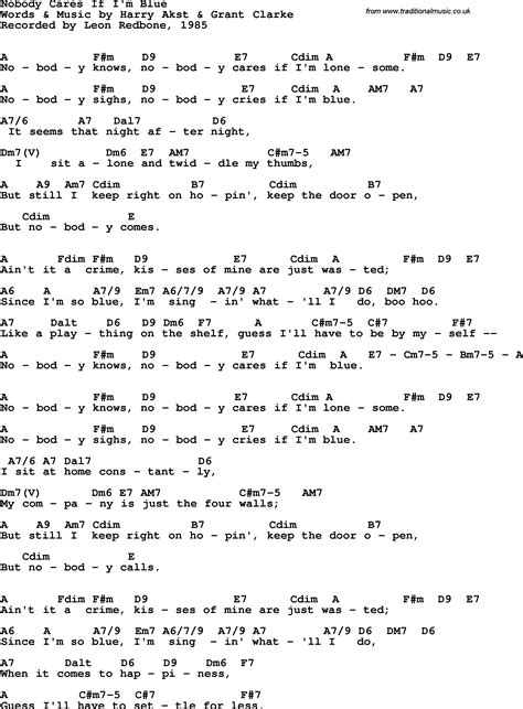 blue song chords song lyrics with guitar chords for nobody cares if i m