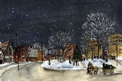 christmas in the berkshires on park square by marge berkshires local artists
