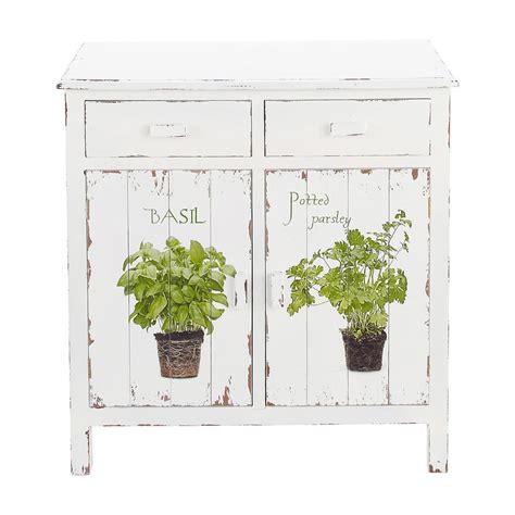buffet de cuisine blanc buffet de cuisine en bois blanc l 80 cm aromates maisons