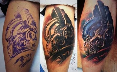 optimus prime tattoo optimus prime awesome ink