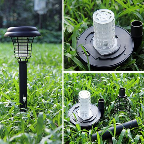 Led Outdoor Lights And Bugs Solar Powered Led Mosquito Repeller Outdoor Uv Light Garden Yard Lawn Anti Insect Pest Bug