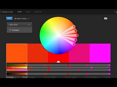 adobe color wheel adobe kuler color wheel color scheme