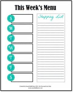 Meal Planner And Shopping List Template Editable Meal Planner Monthly Meal Planner Template