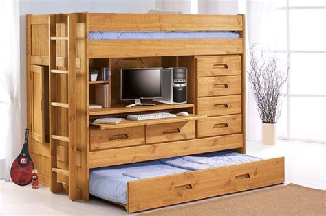 all in one bunk bed with desk seven pull out furniture designs for a smart home