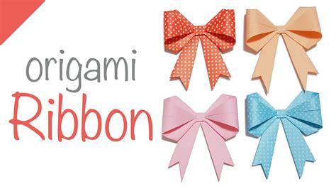 ribbon origami tutorial ribbon origami ribbon tutorial 5 minutes series 08