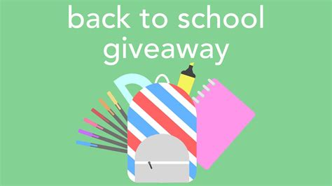 Youtube Giveaways 2016 - back to school giveaway 2016 youtube