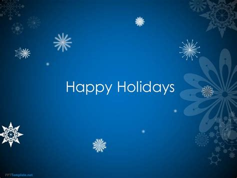 animated happy holidays  template