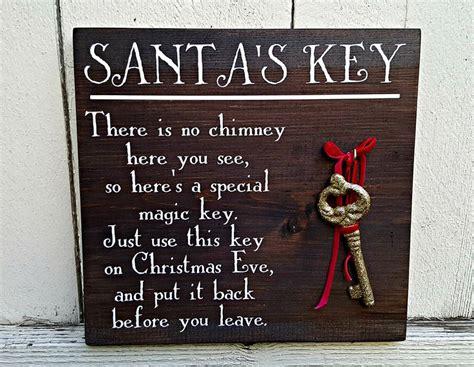 santa s key sign no chimney sign for santa christmas