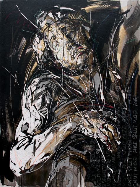 tribute to fine arts michelangelo tribute to michelangelo i painting by hongyu zhang for