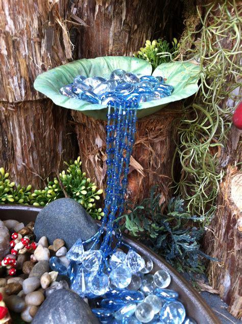 fairy garden waterfall  beads fairy garden