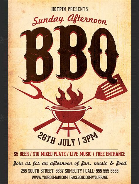 16 Bbq Flyer Template Free Word Pdf Psd Eps Bbq Flyer Template Free