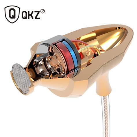 Qkz Stereo In Ear Earphones With Microphone Qkz Dm5 qkz stereo in ear earphones with microphone qkz dm5 golden jakartanotebook
