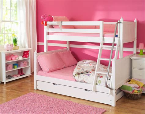 girls full bed white twin over full bunk beds by maxtrix kids 830