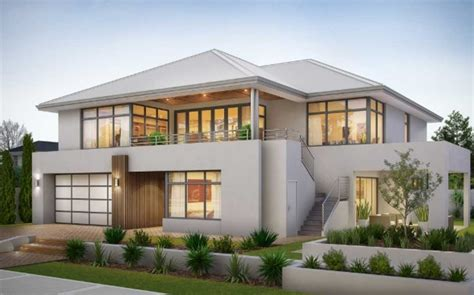 two storey house plans with balcony with stainless steel