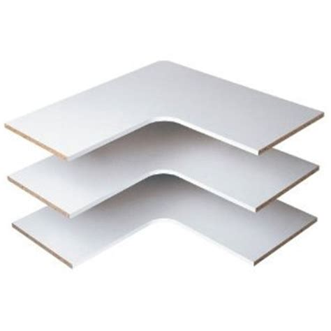 l shaped corner shelves easy track rs3003 series
