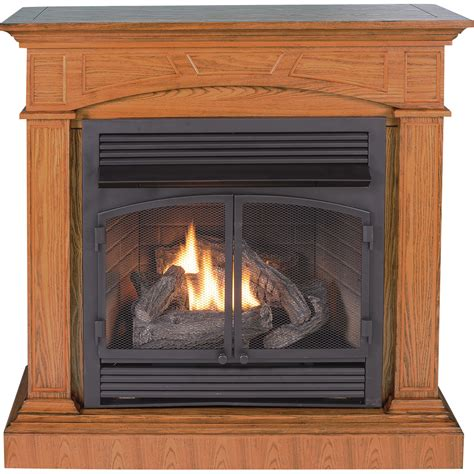 procom gas fireplaces product procom dual fuel vent free fireplace with corner