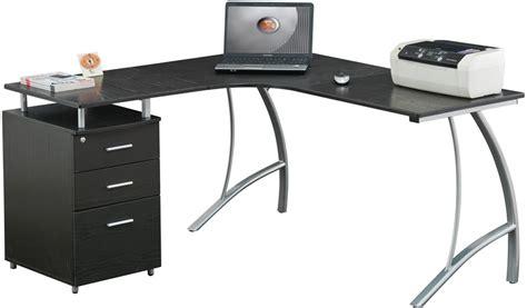 techni mobili l shape corner desk with file cabinet