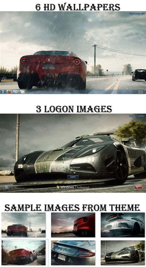 download theme windows 7 need for speed need for speed rivals theme for windows 7 with hd racing