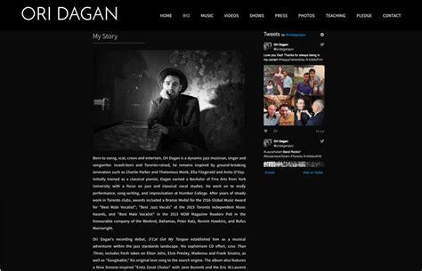 Bio Ori website design inspiration best artist bios