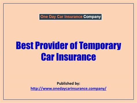 Temporary Car Insurance by Ppt Best Provider Of Temporary Car Insurance Powerpoint