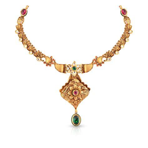 Buy Ethnix Gold Necklace ANDAAAAAARPF for Women Online   Malabar Gold & Diamonds