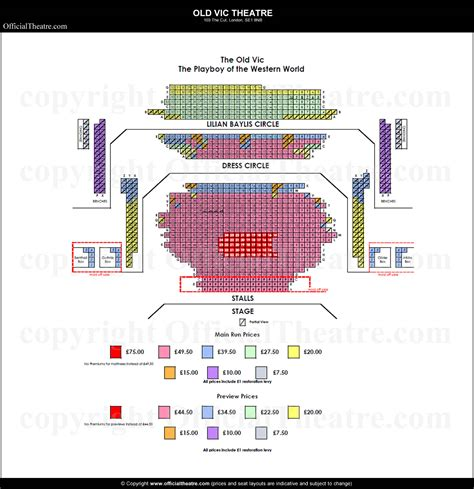 vic house seating plan vic theatre seat map and prices for a