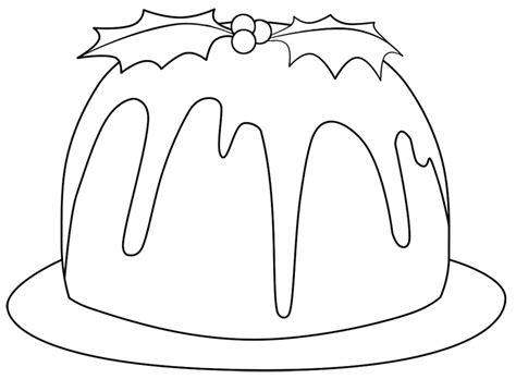 colouring pages christmas pudding puding navidad pastelito en la web hay mas imprimibles