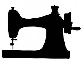 Sewing Craft Room Ideas - public domain vintage sewing machine clipart stencils