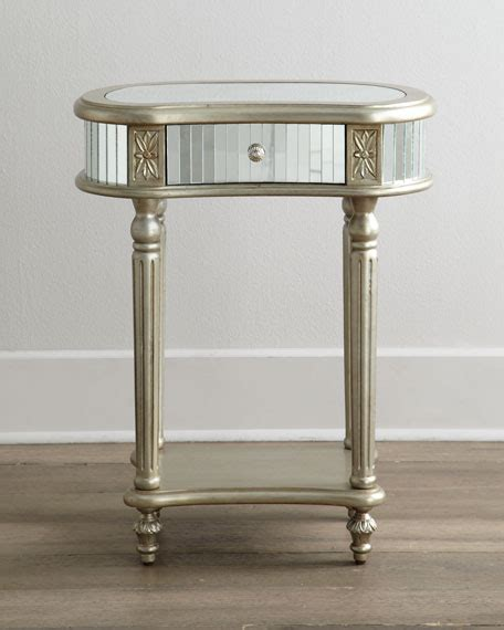 Mirrored Side Table Mirrored Side Table Neiman