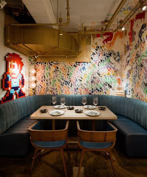 restaurant bibo filled  street art icreatived