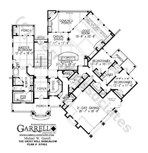 Kris Jenner House Floor Plan by Grist Mill Bungalow House Plan 07462 1st Floor Plan