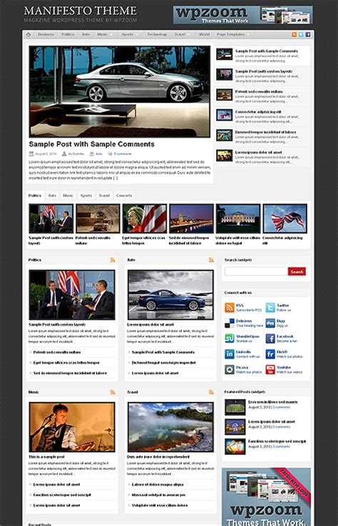 wordpress magazine layout plugin 45 free premium wordpress themes with magazine or grid
