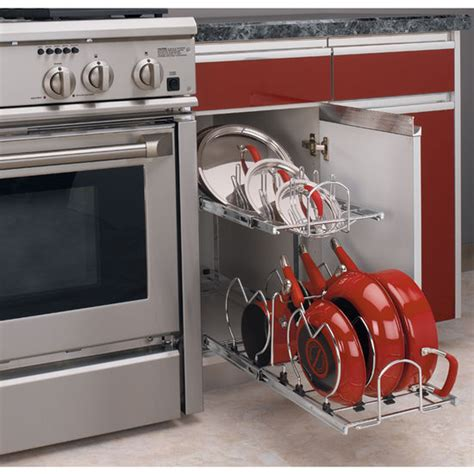 kitchen cabinet organizers for pots and pans two tier pots pans and lids organizer for kitchen cabinet