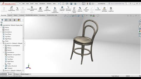 solidworks tutorial chair solidworks tutorial how to design a wooden chair in