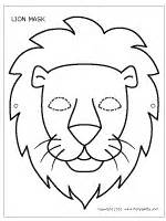 lion mask printable templates amp coloring pages firstpalette