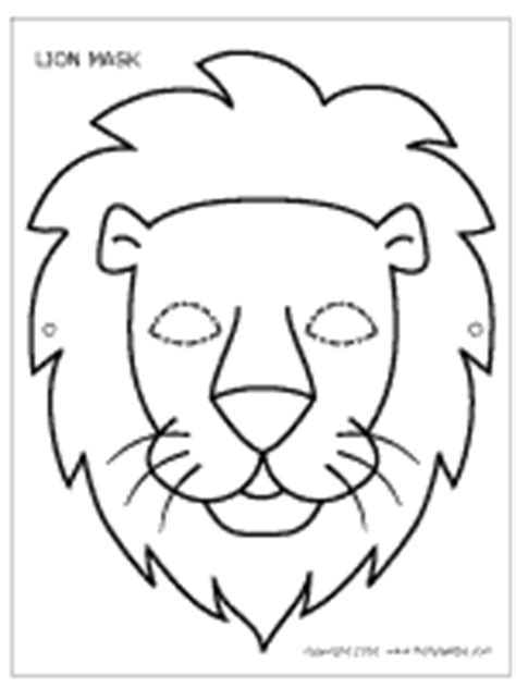 lion mask printable templates coloring pages