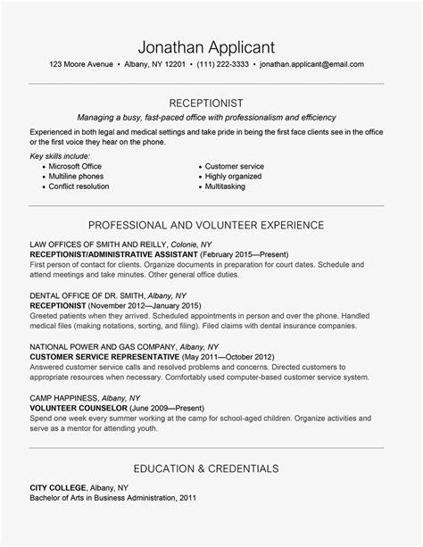 Front Desk Resume Exles