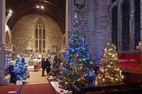christmas tree festival 2018 st mary s church newent